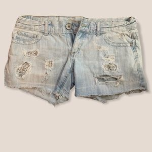 Size 28 Guess Distressed Jean Shorts